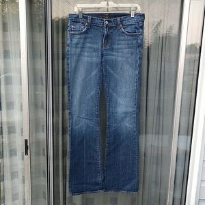 7 for all mankind Low rise Denim jeans Sz 29 x 34
